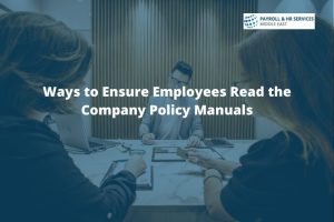 Employees Read the Company Policy Manuals