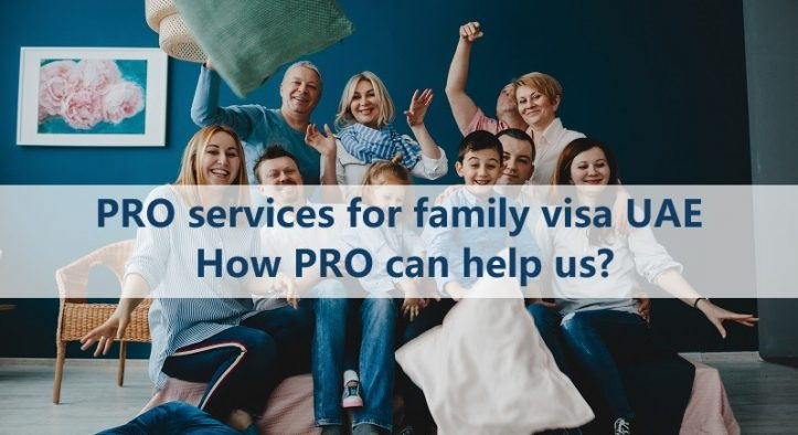 pro services for family visa dubai. How pro can help us